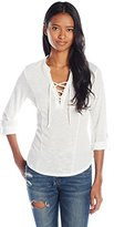 Almost Famous Women's Lace Popover Top
