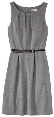 Merona Women's Textured Sleeveless Belted Dress - Assorted Colors