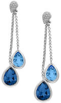 Effy Diamonds, London Blue Topaz and 14K White Gold Drop Earrings
