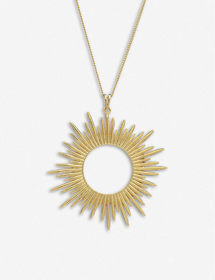 Rachel Jackson Electric Goddess large 22ct gold-plated sterling silver sun necklace