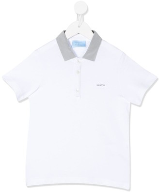 Lanvin Enfant Stitched Logo Polo Shirt