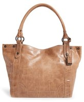 Frye 'Melissa' Washed Leather Tote - Beige