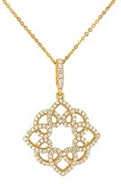 Gottex 18k Over Silver Cz Flower Abstract Necklace.