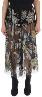 Amen Sheer Embellished Skirt