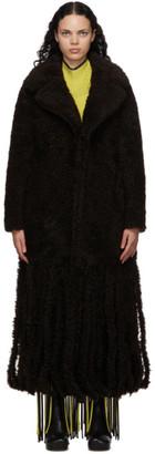 Bottega Veneta Brown Shearling Teddy Fringe Coat