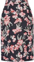 Jonathan Saunders Floral-print Twill Skirt - Black