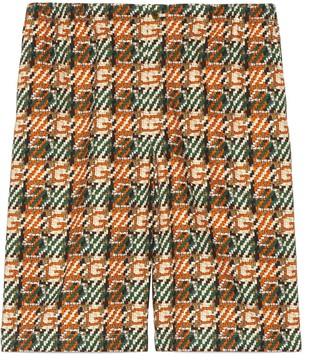 Gucci GG spots print silk shorts
