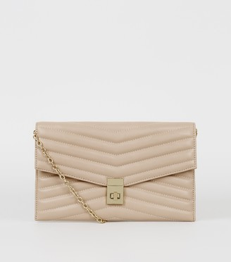 New Look Quilted Leather-Look Clutch Bag