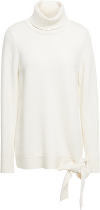 MICHAEL Michael Kors Bow-embellished Knitted Turtleneck Sweater