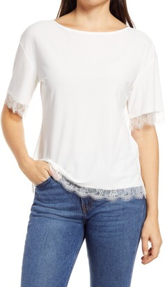 Halogen Lace Trim Blouse