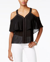 GUESS Cherelle Cold-Shoulder Illusion Top