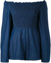 Alice McCall denim off-the-shoulder playsuit - women - Cotton - 36