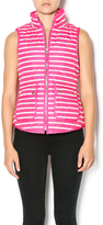 Rosette Striped Quilted Vest