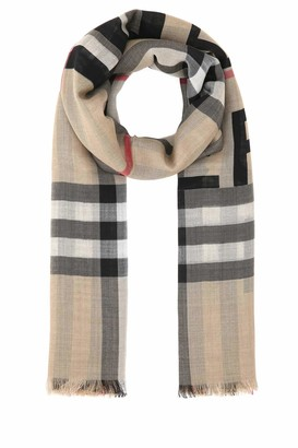 Burberry Horseferry Print Check Large Square Scarf
