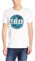 adidas Mens Skateboarding Scratched Stamp Tee
