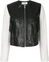 Etoile Isabel Marant Kirk fringed jacket - women - Silk/Lamb Skin/Polyester/Zinc - 38