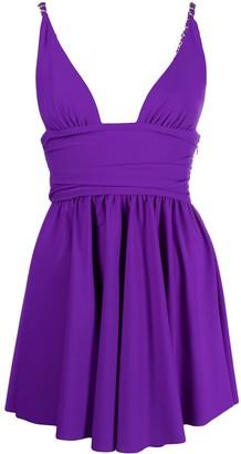 Amen V-neck pleated dress
