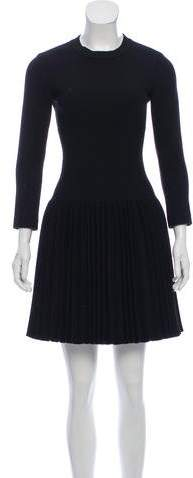 Alaia Pleated Wool Dress