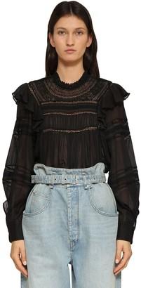 Etoile Isabel Marant Viviana Ruffled Cotton Shirt