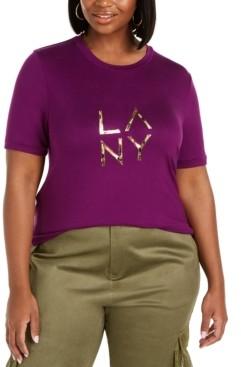 Lala Anthony Trendy Plus Size La Ny Graphic T-Shirt