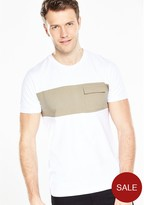 Very Short Sleeve Cut And Sew T-shirt
