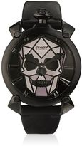 GaGa MILANO Bionic Skull Black Steel Watch
