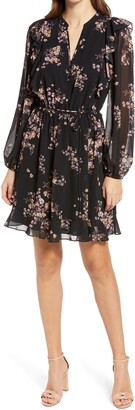 Ever New Angel Ruffle Long Sleeve Skater Dress