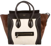 Celine Tricolor Ponyhair Mini Luggage Tote
