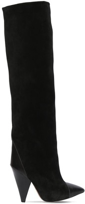Isabel Marant 75mm Leoul Suede & Leather Tall Boots
