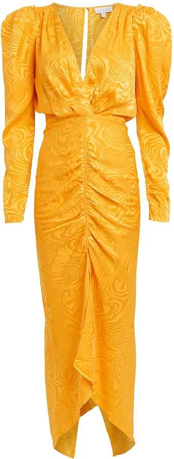 Ronny Kobo Astrid Moire Ruched Dress