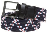 Fred Perry New Mens Blue Chevron Woven Cord Polyester/Cotton Belt Belts