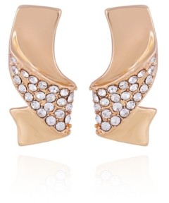 T Tahari Wrapped in Ribbons Button Earring
