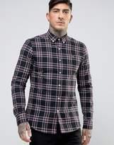 Farah Shirt In Plaid Cotton Slim Fit Black