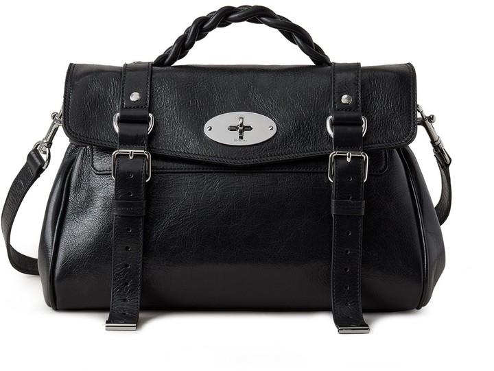 Mulberry Alexa Black High Shine Leather