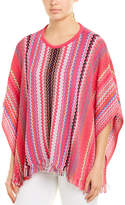 M Missoni Striped Poncho