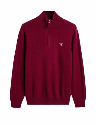 Gant Men's Superfine Lambswool Half Zip Sweater