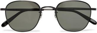 Garrett Leight California Optical World 49 Round-Frame Metal Sunglasses