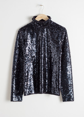 And other stories Sequin Turtleneck