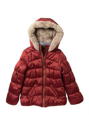 Jessica Simpson Faux Fur Lined Puffer Jacket (Big Girls)