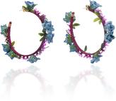 Mercedes Salazar Flower Brass Earrings