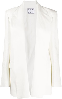 In The Mood For Love Montague oversized linen blazer