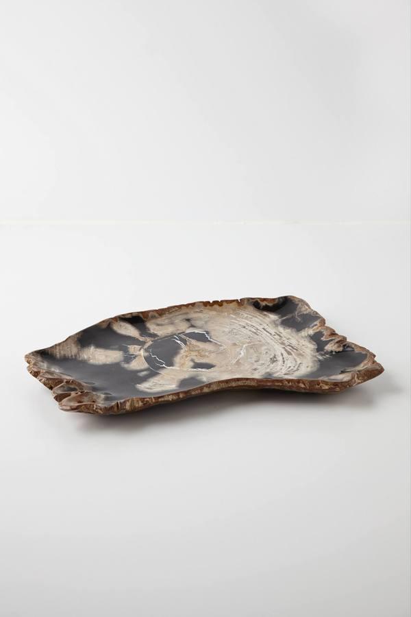 Anthropologie Molten Wood Tray