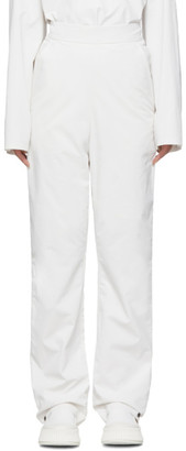 Kassl Editions SSENSE Exclusive White Pop Oil Trousers