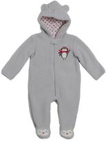 Baby Gear Gray Penguin Fleece Hooded Footie - Infant