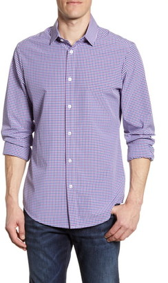 Mizzen+Main Montoya Trim Fit Multi Check Performance Sport Shirt