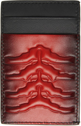 Alexander McQueen Red and Black Rib Cage Card Holder