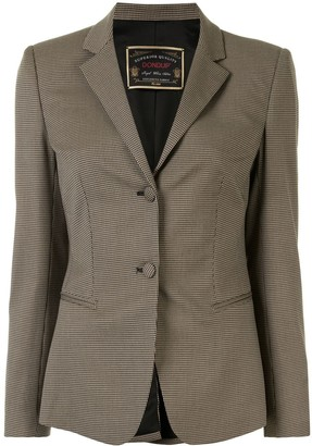 Dondup Houndstooth Single Breasted Blazer
