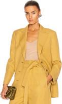 Alberta Ferretti Tailored Blazer in Tan | FWRD