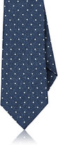 Isaia Men's Dot-Pattern Wool Necktie-NAVY