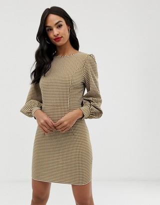 Fashion Union gingham long sleeved dress